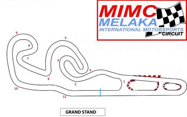 Melaka International Motorsports Circuit Layout
