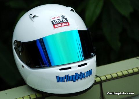 FM-V Green Visor on Arai SK-5 Helmet