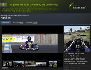 KartSim is Greenlit, and getting ready!
